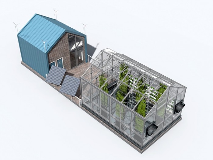 Floating greenhouse is both sustainable and educational for Greenhouse architecture design