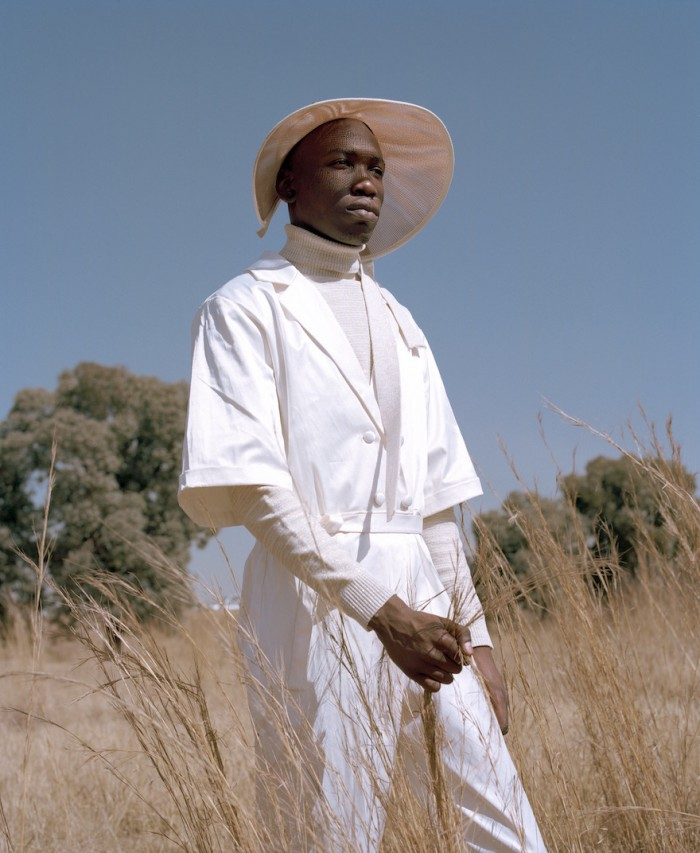 The SS17 collection by South African fashion designer Lukhanyo Mdingi, shot against the dramatic colours of the South African landscape. Image: Kent Andreason