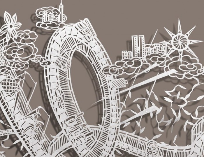 Intricate Paper Cuts Embrace The Chaos Of The Concrete Jungle - Incredible intricately cut paper designs bovey lee