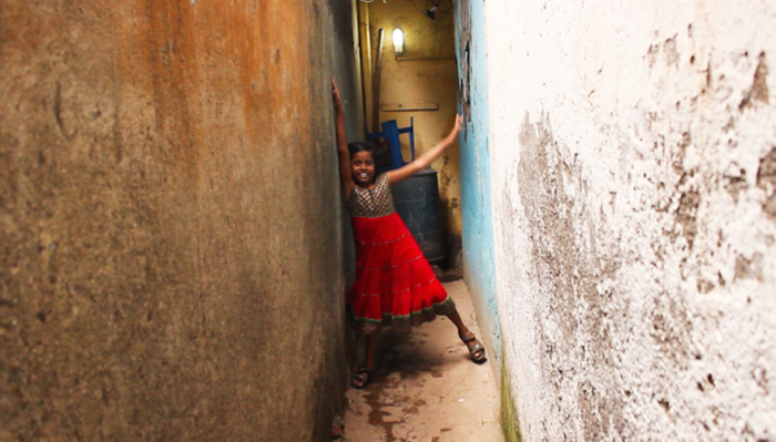 film shoot in Dharavi, Mumbai, via Liberty Express Kickstarter page
