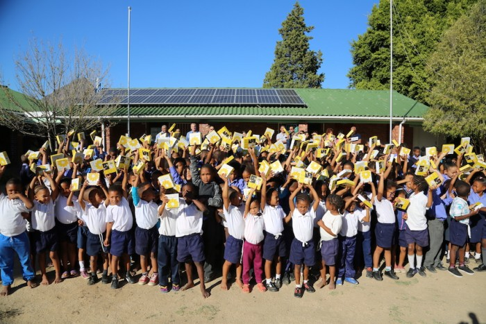 The Little Suns donated to SONOP primary school kids by Nedbank