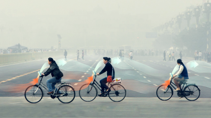 Smog Free bicycle