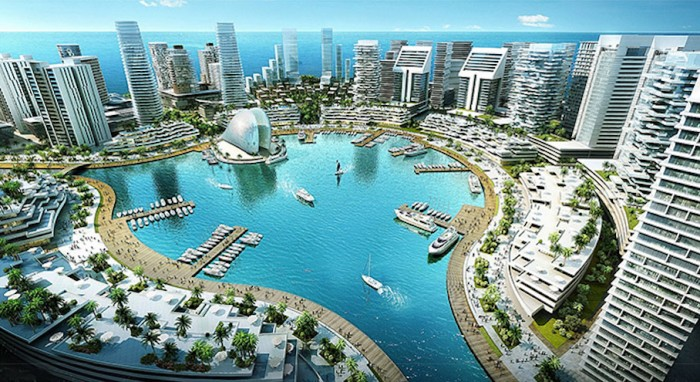 A rendering of the Eko Atlantic project