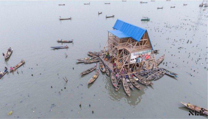 Makoko Floating School before it collapsed