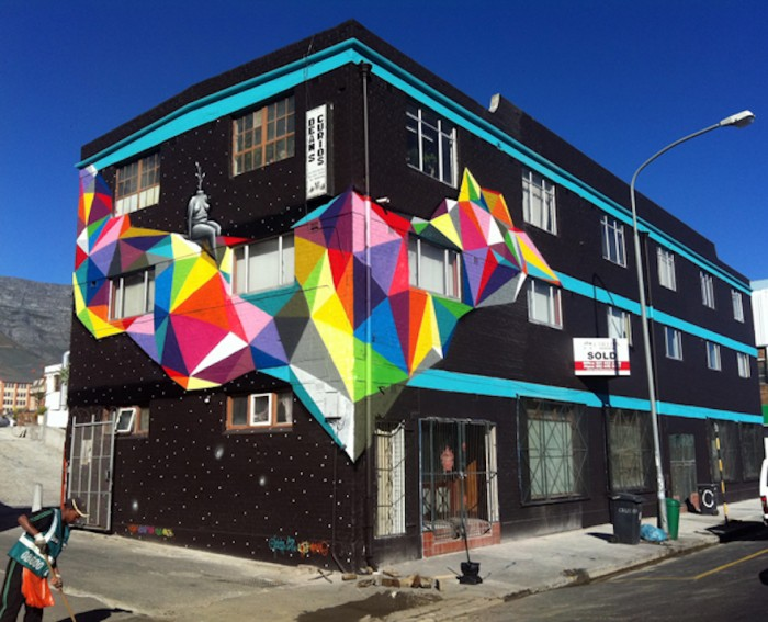 Side Street Studios Mural, Woodstock by Okuda