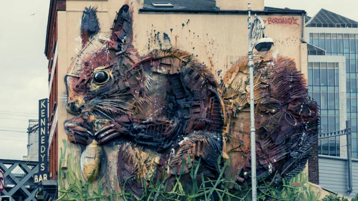 Bordalo II sculpture in Portugal