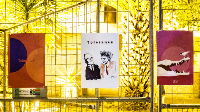 in pictures the tolerance traveling poster show at design indaba