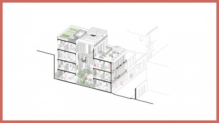 One of the prototypes for the Cuban social housing project by Borkowicz