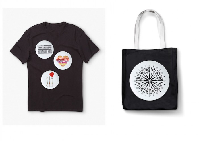 Life Kitchen totes and t-shirts