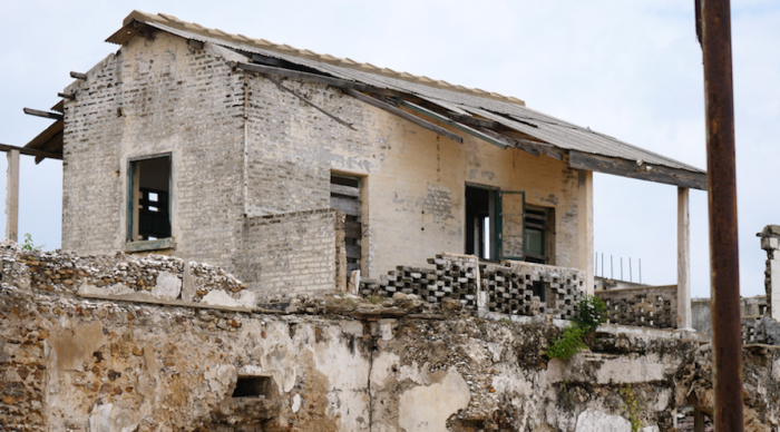 The governor's quarters at the dilapidated slave fort on Ghana's Cape Coast