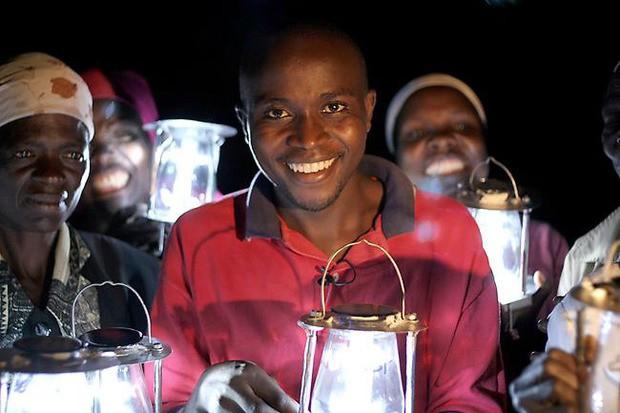 Solar lamp by Evans Wadongo.