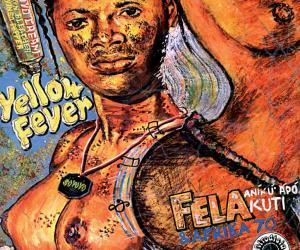 Fela Kuti's Yellow Fever album designed by Ghariokwu Lemi.