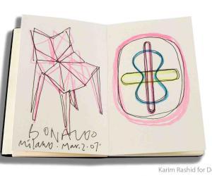 Karim Rashid's Moleskin notebook.