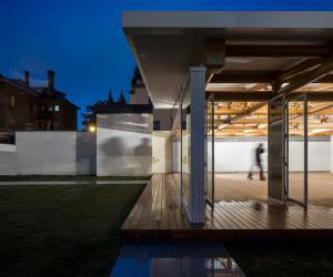 Paper pavilion by Shigeru Ban.