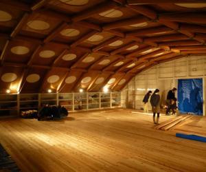 Kyoto University Temporary Studio by Shigeru Ban.