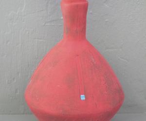 Cape Town-based ceramicist Clementina van der Walt's zig zag vase in red