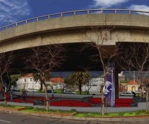 The proposed design for a new skate park to be built in Gardens, Cape Town in 2014