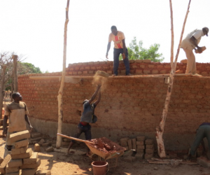 Construction work on The Atelier at Gando.