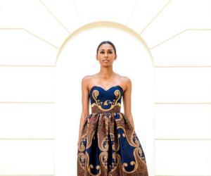Dress by Taibo Bacar.