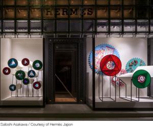 Window display for Maison Hermès, Japan by Oscar Diaz.