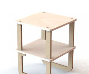 Side table by Unfayzd Design.