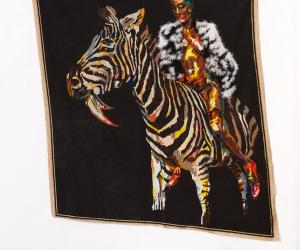 Tapestry by Athi-Patra Ruga.