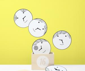 Bad Boys wall clocks by Matali Crasset.