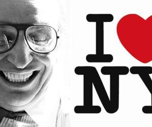 Milton Glaser and his I ♥ NY logo. Photo by Sam Haskins. Image: Phaidon.