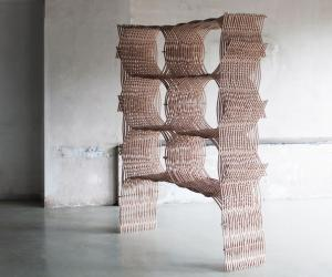 Wood Weavings by Martina Lasinger.