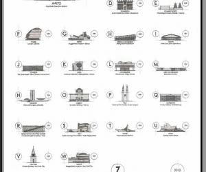 A-Z architectural city guide by Blank Ink Designs.