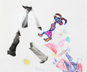 The artworks produced by the children offer insight to what they are going through.
