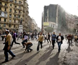 Guy Martin captured the turmoil surrounding the Egyptian protests of 2011.
