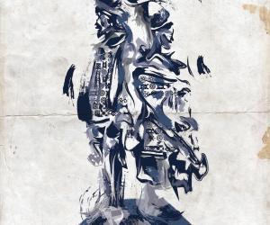Johannesburg based illustrator Lungile Mbokane creates images inspired by newsprint, earthy tones and broad, slashing brushstrokes