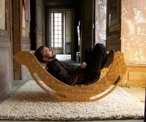 A rocking chair made of upcycled plastic bottles and sustainable spruce is a guilt-free way to kick back.