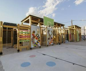 Using input from children in Bar Elias, Lebanon, Catalytic Action designed and built a playground for a school developed to serve refugees.