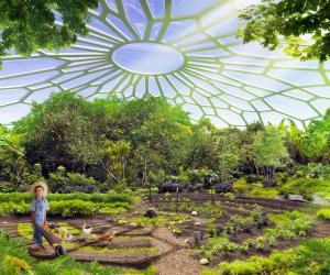 A massive eco-village with a utopian take on sustainable living