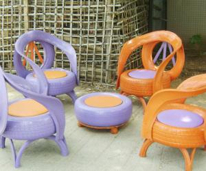 Garden furniture by Recycle India