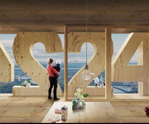 Artist impression of the inside Tratoppen, Stockholm.