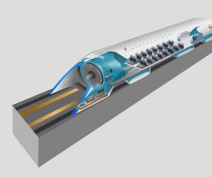 Computer rendering of Hyperloop