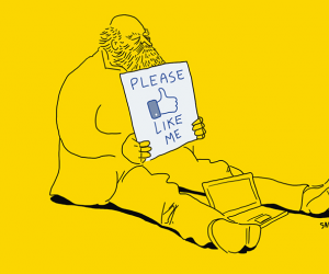 Facebook likes artwork