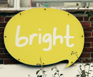 Bright outdoor sign