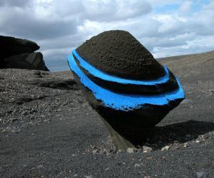 Cosmika land art in Iceland