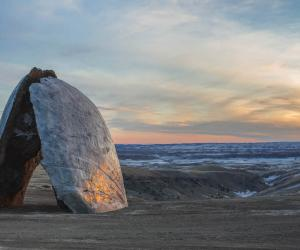 A landscape, open-air sculpture at the Tippet Rise Art Centre in Montana, USA
