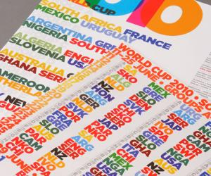 World Cup calendar poster by David Watson.