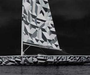 Laser sailboat by Marian Bantjes.