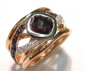 Black Poki Diamond Ring by freeRange jewels