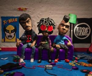 """This chaotic claymation for Radkey's song """"Glore"""" is explosive and packed with references to pop culture."""