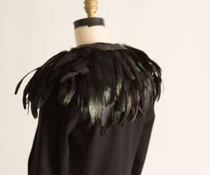 This augmented feathered jacket by Birce Ozkan is a smart fashion piece that mimics the navigational sense of a bird