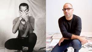 Oded Ezer. Left: As a student in 1994, and Ezer today (right).