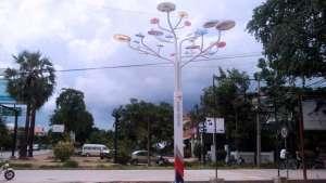 Solar streetlight. Photo via designboom.